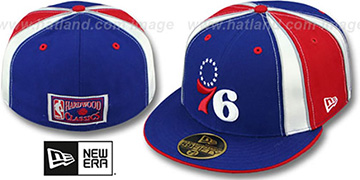 76ers HARDWOOD 'EXPOSED' Fitted Hat by New Era