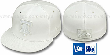 76ers 'HARDWOOD FADEOUT' White Fitted Hat by New Era