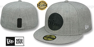 76ers HEATHER-POP Light Grey Fitted Hat by New Era