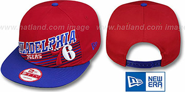 76ers 'HW STILL ANGLIN SNAPBACK' Red-Royal Hat by New Era