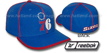 76ers HW WILDSIDE Fitted Hat by Reebok - royal