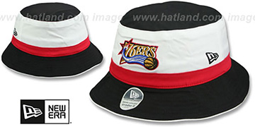 76ers HWC CRADER II Bucket Black Hat by New Era