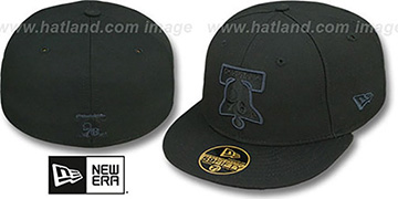 76ers 'HWC FADEOUT-BASIC' Black Fitted Hat by New Era