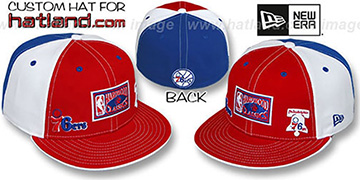 76ers HWC TRIPLE THREAT Red-White-Royal Fitted Hat by New Era