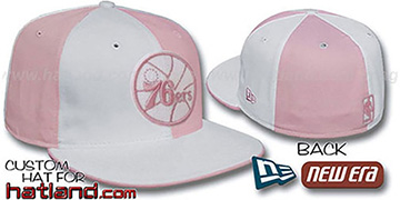 76ers HW PINWHEEL White-Pink Fitted Hat by New Era