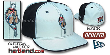 76ers INSIDER PINWHEEL White-Black Fitted Hat by New Era