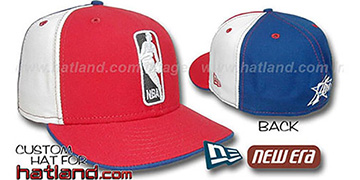 76ers 'LOGOMAN' Red-White-Royal Fitted Hat by New Era
