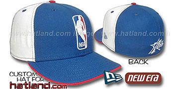 76ers LOGOMAN Royal-White Fitted Hat by New Era