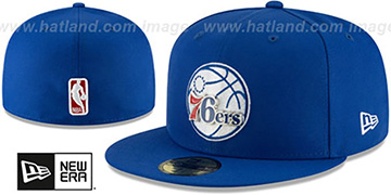 76ers METAL-N-THREAD Royal Fitted Hat by New Era