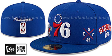 76ers 'MULTI-AROUND' Royal Fitted Hat by New Era