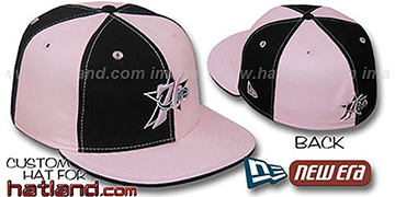 76ers PINWHEEL Black-Pink Fitted Hat by New Era