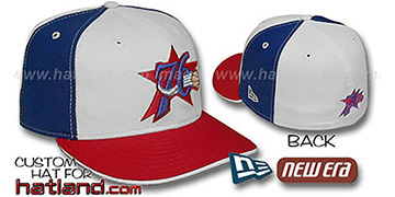 76ers PINWHEEL White-Royal Fitted Hat by New Era