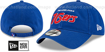 76ers RETRO-SCRIPT SNAPBACK Royal Hat by New Era