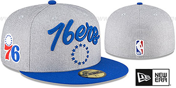 76ers ROPE STITCH DRAFT Grey-Royal Fitted Hat by New Era