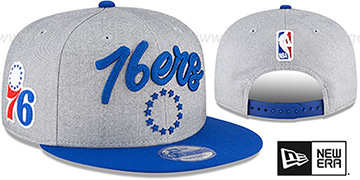 76ers 'ROPE STITCH DRAFT SNAPBACK' Grey-Royal Hat by New Era