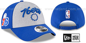 76ers ROPE STITCH DRAFT STRETCH SNAPBACK Grey-Royal Hat by New Era