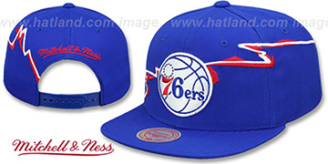76ers 'SWIFTER SNAPBACK' Royal Hat by Mitchell and Ness