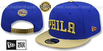 76ers SWINGMAN SNAPBACK Royal-Gold Hat by New Era