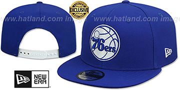76ers TEAM-BASIC SNAPBACK Royal-White Hat by New Era