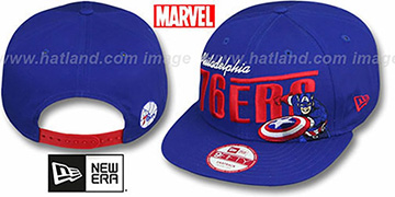 76ers TEAM-HERO SNAPBACK Royal Hat by New Era