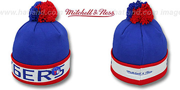 76ers 'THE-BUTTON' Knit Beanie Hat by Michell & Ness