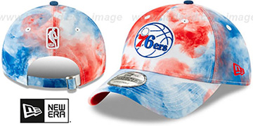 76ers TIE-DYE STRAPBACK Hat by New Era