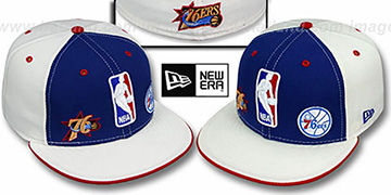 76ers 'TRIPLE THREAT' Royal-White Fitted Hat by New Era