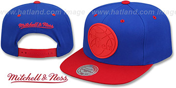 76ers 'XL RUBBER WELD SNAPBACK' Royal-Red Adjustable Hat by Mitchell and Ness
