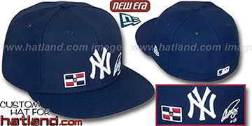 A-Rod TRIPLE THREAT Navy Fitted Hat by New Era