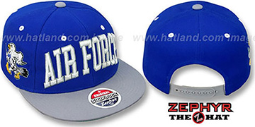 Air Force '2T SUPER-ARCH SNAPBACK' Royal-Grey Hat by Zephyr