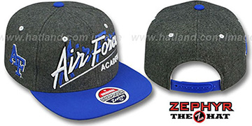 Air Force BACKDROP SNAPBACK Grey-Royal Hat by Zephyr