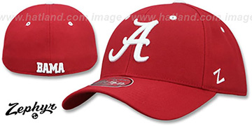 Alabama DH-2 Crimson Fitted Hat by Zephyr