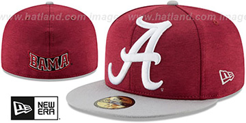 Alabama HEATHER-HUGE 2 Crimson-Grey Fitted Hat by New Era