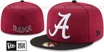 Alabama 'HEATHER-HUGE' Crimson-Black Fitted Hat by New Era