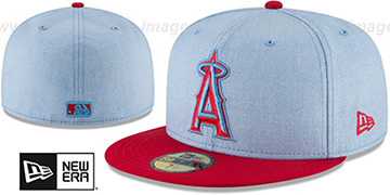 Angels 2018 FATHERS DAY Sky-Red Fitted Hat by New Era
