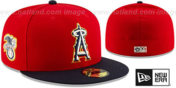 Angels '2019 JULY 4TH STARS N STRIPES' Fitted Hat by New Era