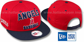 Angels 2T PAYDIRT SNAPBACK Red-Navy Adjustable Hat by New Era