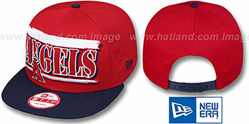Angels '2T STILL BREAKIN SNAPBACK' Red-Navy Hat by New Era