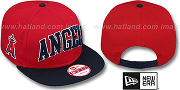 Angels CHENILLE-ARCH SNAPBACK Red-Navy Hat by New Era