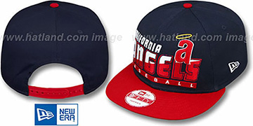 Angels COOP 'SLICE-N-DICE SNAPBACK' Navy-Red Hat by New Era