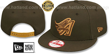 Angels COOP TEAM-BASIC SNAPBACK Brown-Wheat Hat by New Era
