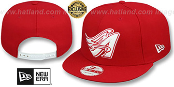 Angels COOP TEAM-BASIC SNAPBACK Red-White Hat by New Era