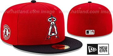 Angels DASHMARK BP Red-Navy Fitted Hat by New Era