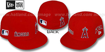 Angels EVOLUTION Fitted Hat by New Era - red