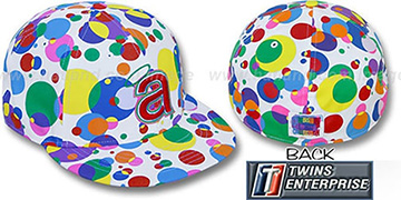 Angels 'GUMBALL' White-Multi Fitted Hat by Twins