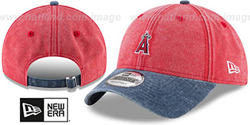 Angels 'GW RUGGED CANVAS STRAPBACK' Red-Navy Hat by New Era