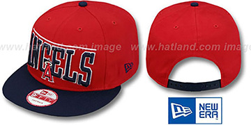 Angels 'LE-ARCH SNAPBACK' Red-Navy Hat by New Era