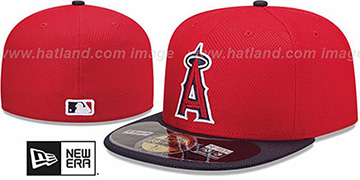 Angels 'MLB DIAMOND ERA' 59FIFTY Red-Navy BP Hat by New Era