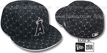 Angels 'MLB FLOCKING' Black Fitted Hat by New Era