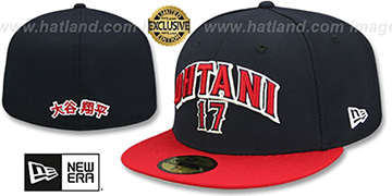 Angels OHTANI ARCH Navy-Red Fitted Hat by New Era